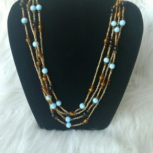 Set of 2 Beaded Necklaces